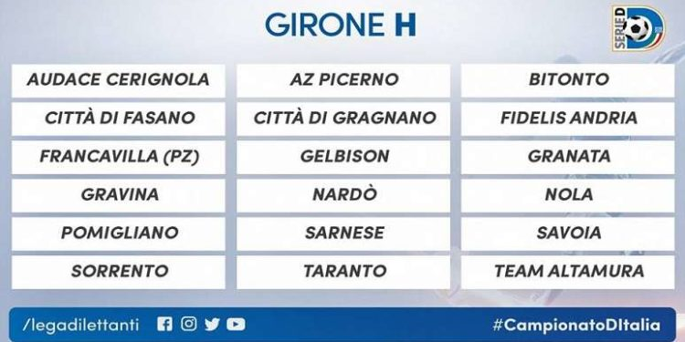 Serie D Girone D Calendario.Serie D 2018 19 Ecco Il Calendario Completo Del Girone H