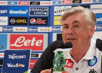 Ancelotti conferenza ph SSC Napoli