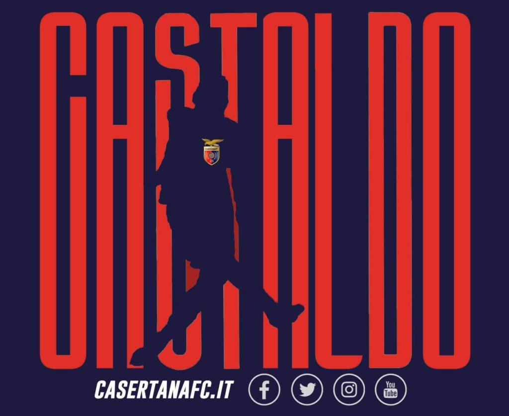 La grafica stile CR7 per Castaldo, ph Casertana F.C.