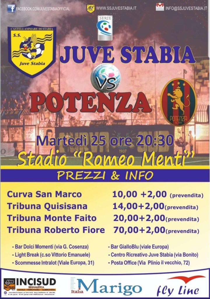 Juve Stabia-Potenza, la locandina del match