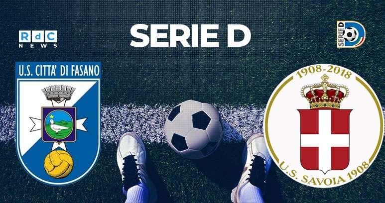 Fasano-Savoia 2-0 Andata