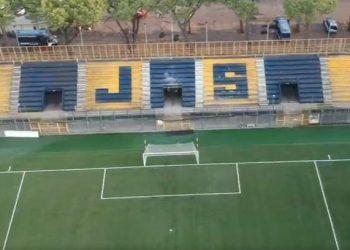 Stadio Romeo Menti ripreso da drone ph da video S.S. Juve Stabia