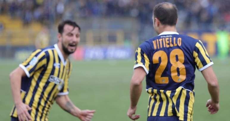Vitiello esulta dopo un gol ph Antonio Gargiulo S.S. Juve Stabia