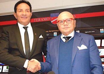 a sinistra Nicola Di Matteo a destra Luciano Campitelli ph Teramo Calcio