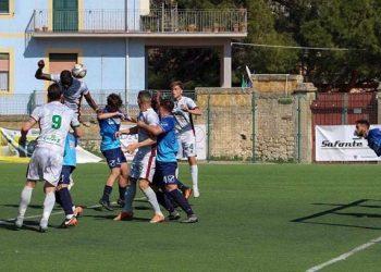Gueye segna contro il Portici ph Sancataldese Calcio