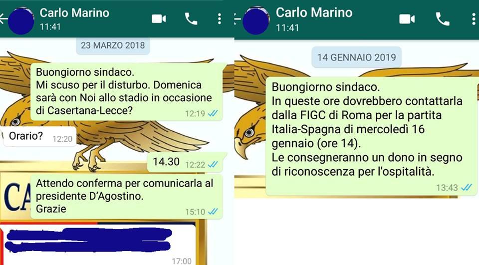 Messaggi Casertana al Sindaco Marino ph Casertana F.C.