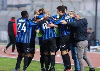 Esultanza Bisceglie ph Emmanuele Mastrodonato A.S. Bisceglie Calcio