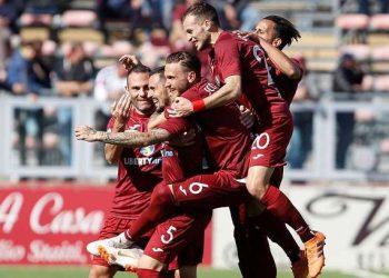 Esultanza Trapani ph Joe Pappalardo Trapani Calcio