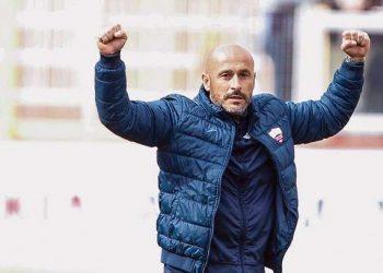 Vincenzo Italiano esulta ph Joe Pappalardo Trapani Calcio