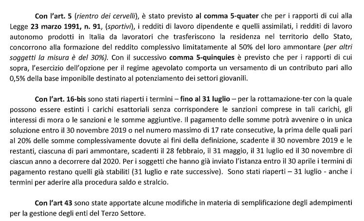 Centro Studi Tributari LND, Decreto crescita 3