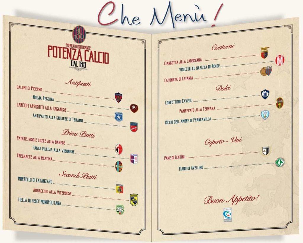 Il menù del Girone C di Serie C ph Potenza Calcio