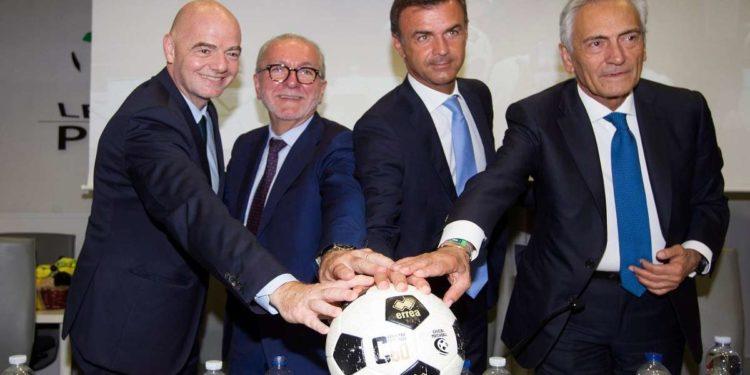 Infantino Ghirelli Prandini Gravina ph Lega Pro