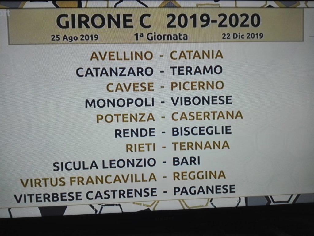 La 1° giornata del Girone C di Serie C ph Rai