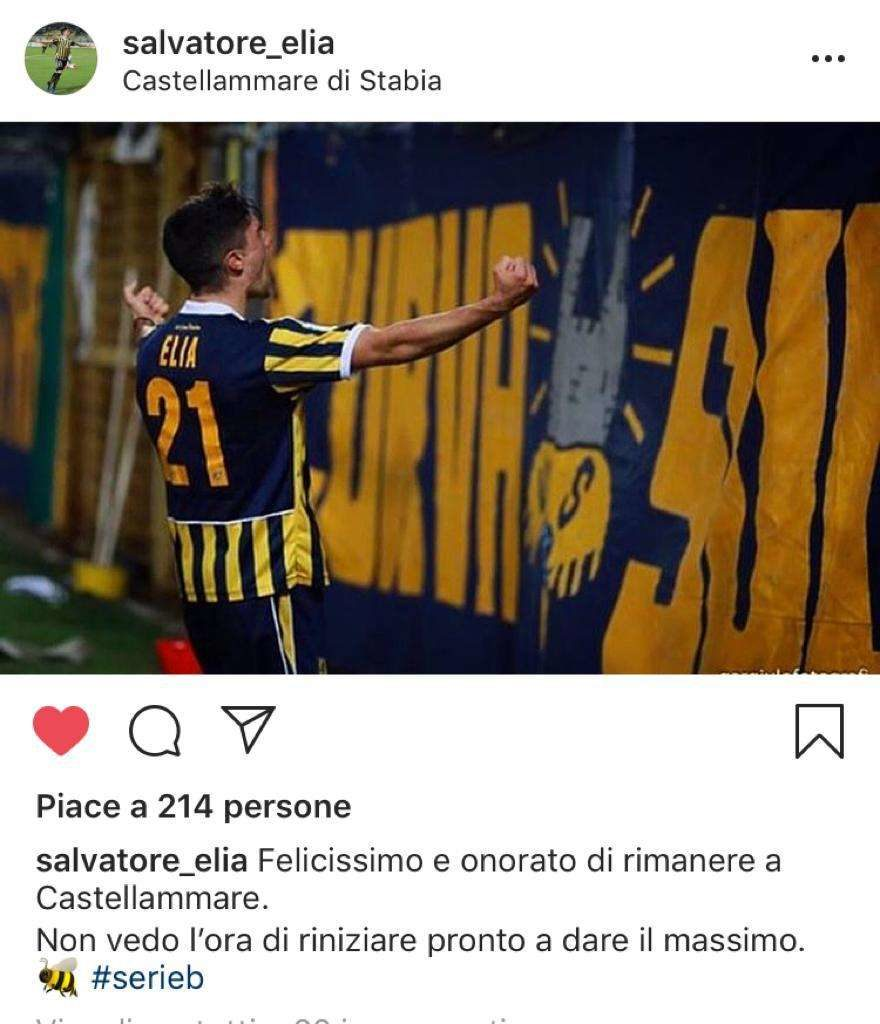 Post Elia ph Instagram Salvatore Elia