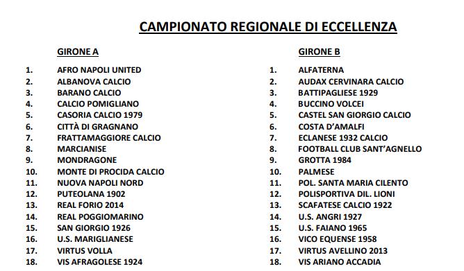 Eccellenza Campania 2019 2020
