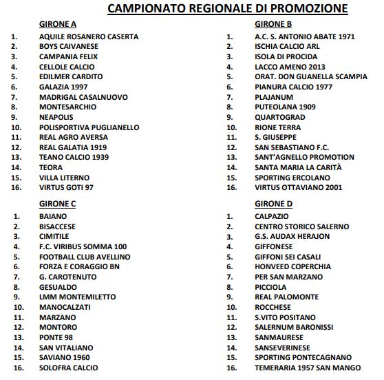 Promozione Campania 2019 2020
