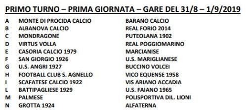 Coppa Italia Eccellenza Primo turno gara 1