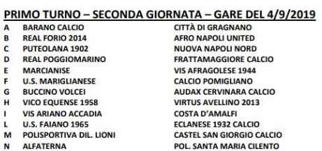 Coppa Italia Eccellenza Primo turno gara 2