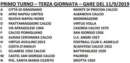 Coppa Italia Eccellenza Primo turno gara 3