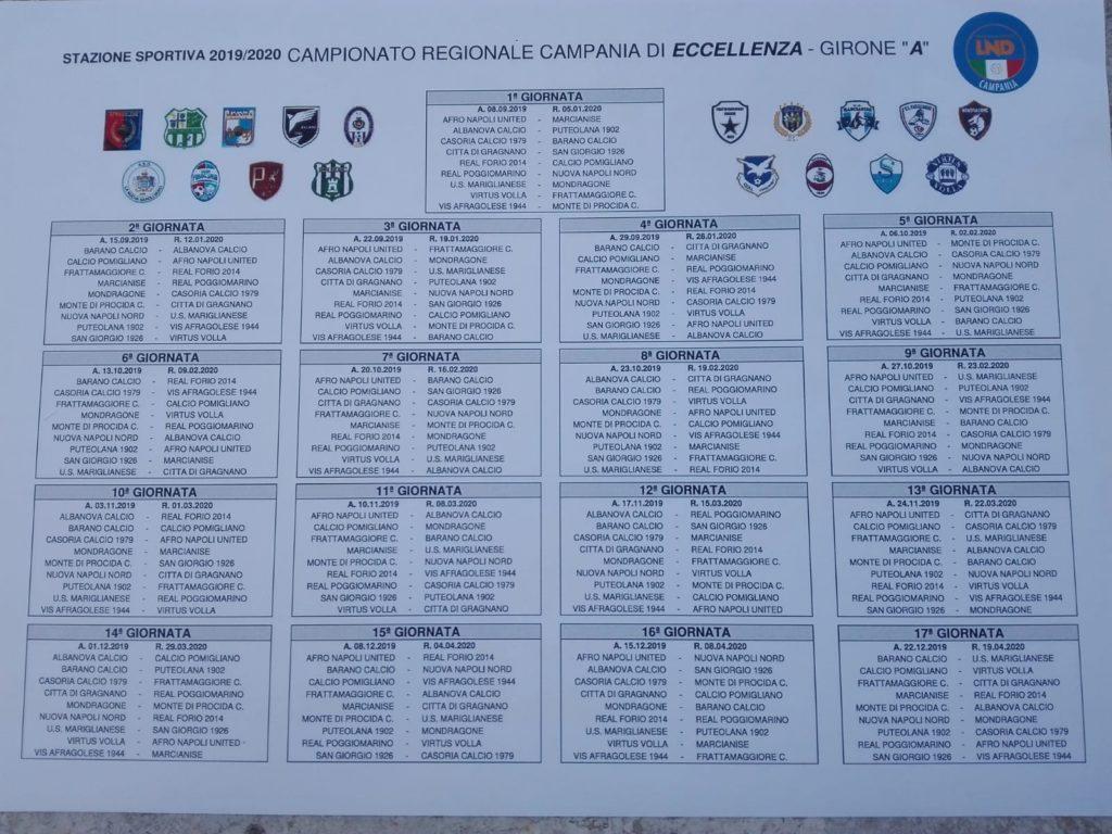 Calendario Promozione Campania.Eccellenza Campania Ecco I Calendari Completi Dei Gironi A