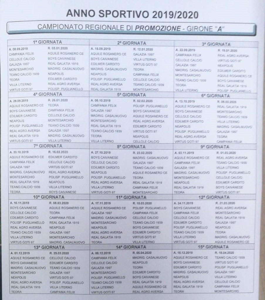 Calendario Campionato Di Calcio.Promozione Campania Ecco I Calendari Completi Dei 4 Gironi