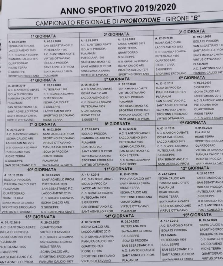 Calendario Promozione Campania.Promozione Campania Ecco I Calendari Completi Dei 4 Gironi