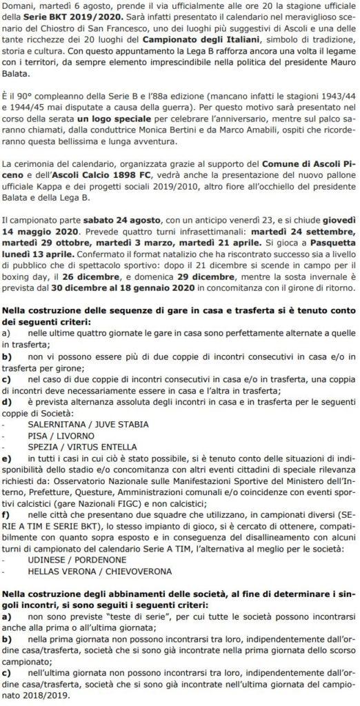 Calendario Serie A Domani.Serie B Domani Il Calendario Ecco Tutti I Criteri Per La