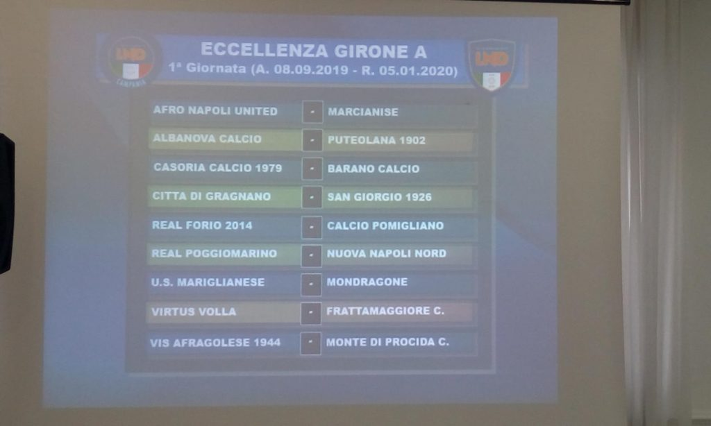 Calendario Eccellenza Girone B.Eccellenza Campania Ecco I Calendari Completi Dei Gironi A