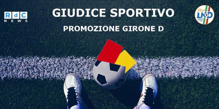 Giudice Sportivo Promozione girone D