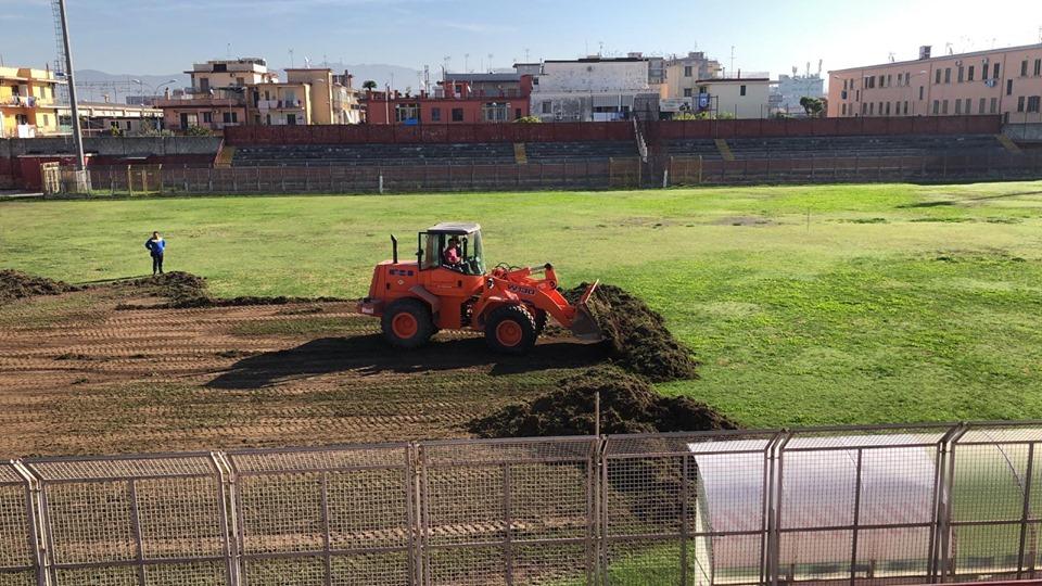 Lavori Stadio Gobbato 1 ph Calcio Pomigliano