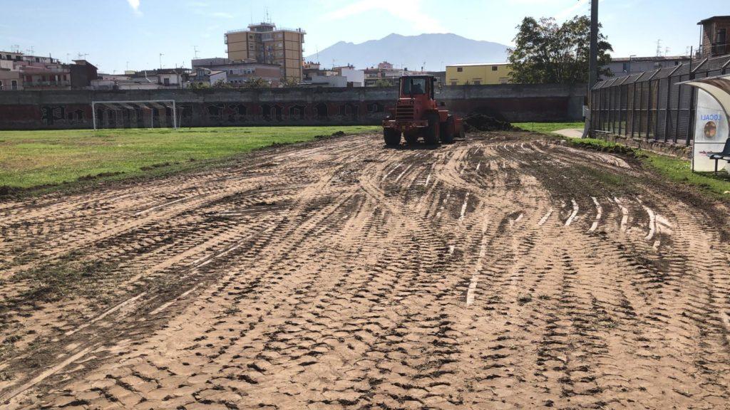 Lavori Stadio Gobbato 2 ph Calcio Pomigliano