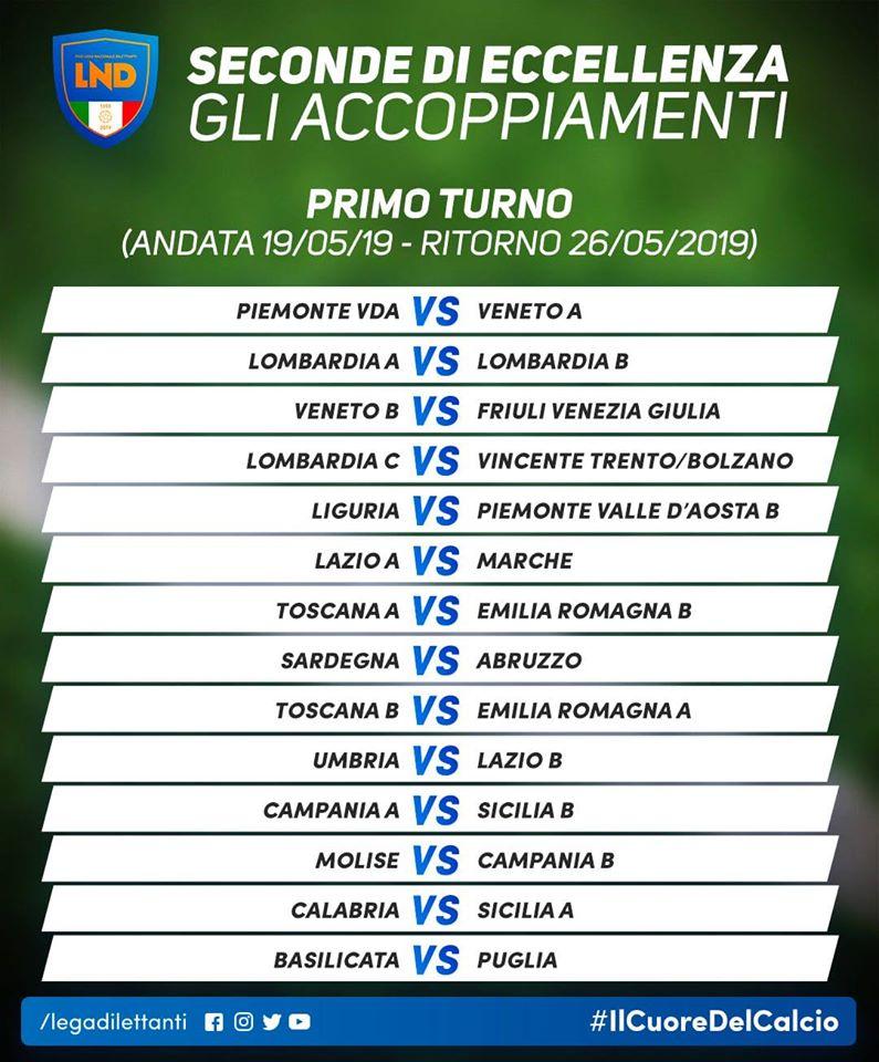 Accoppiamenti Play Off Eccellenza 19-20