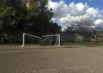 Raid vandalico stadio Pontecagnano ph Sporting Pontecagnano
