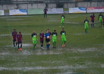 Stadio Città di Corigliano maltempo ph Corigliano Calabro Calcio