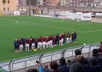 Esultanza squadra e tifosi ph Pomigliano Calcio
