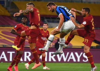 Ph FC Inter, gol De Vrij vs Roma