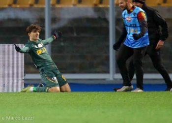Ph Anza e Marco Lezzi, Lecce - Rodriguez gol