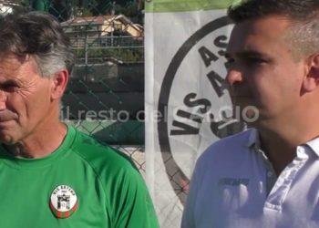 Vis Artena, mister Fabrizio Perrotti e direttore sportivo Cristian Calabrese