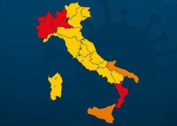 Ph Governo, colori regioni