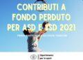seconda tranche 2021 contributi fondo perduto asd ph SportGoverno